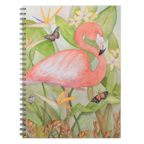 Flamingo Garden Notebook