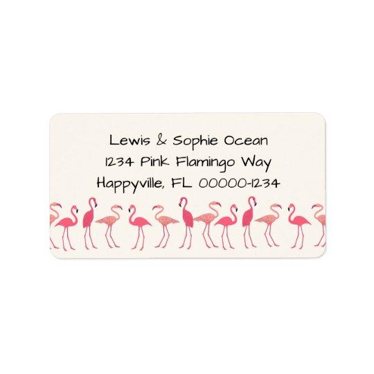 Flamingo Gathering Beach Residence Address Label
