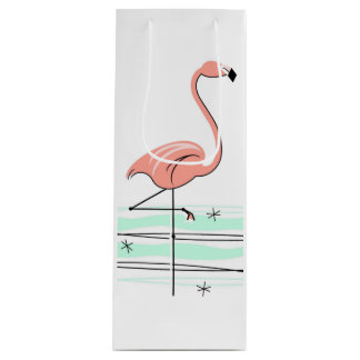 Flamingo gift bag bottle