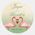 Flamingo Heart Kiss Wedding Favour | jade