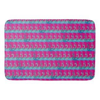 Flamingo Heart Pattern Bath Mat - Any Color