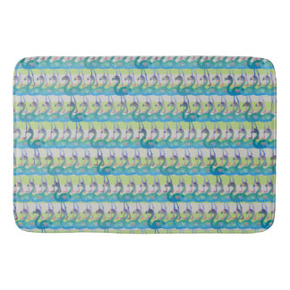 Flamingo Heart Pattern Bath Mat (MultGrnHt)
