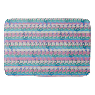 Flamingo Heart Pattern Bath Mat (MultPinkHt)