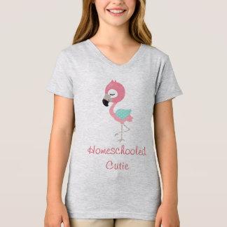Flamingo Homeschooled Cutie T-Shirt