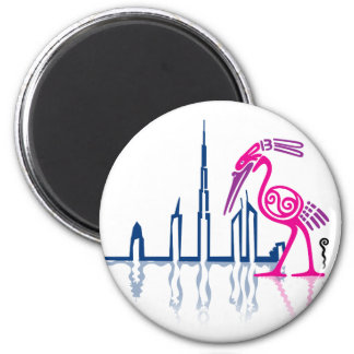 Flamingo in Dubai Magnet