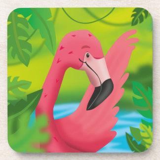Flamingo in the Green Coaster