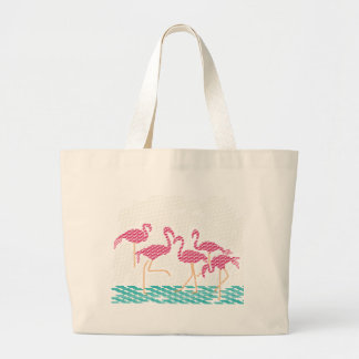 flamingo jumbo tote bag
