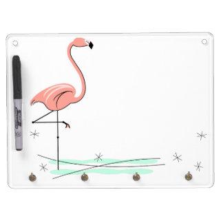 Flamingo keychain dry erase board