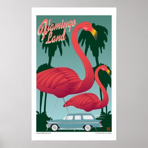 Flamingo Land-Print Poster