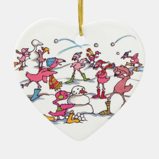 "Flamingo ""Let it snow"" CUSTOMIZABLE ornament"
