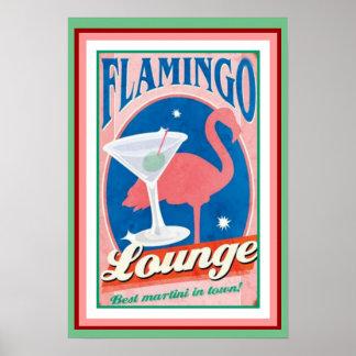 Flamingo Lounge Poster 13 x 19