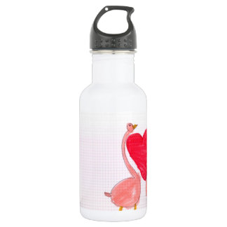 Flamingo Love 532 Ml Water Bottle