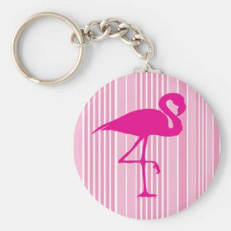 Flamingo Love Basic Round Button Key Ring