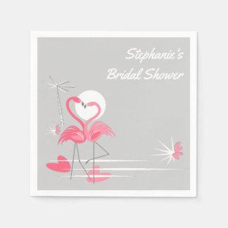 Flamingo Love Bridal Shower paper napkins