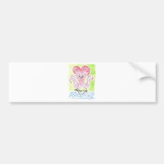 Flamingo Love Bumper Sticker