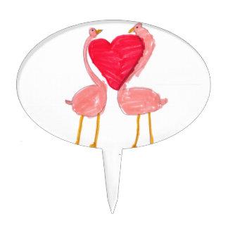 Flamingo Love Cake Picks