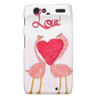 Flamingo Love Motorola Droid RAZR Cases