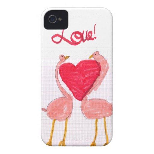 Flamingo Love iPhone 4 Cases
