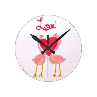 Flamingo Love Clocks