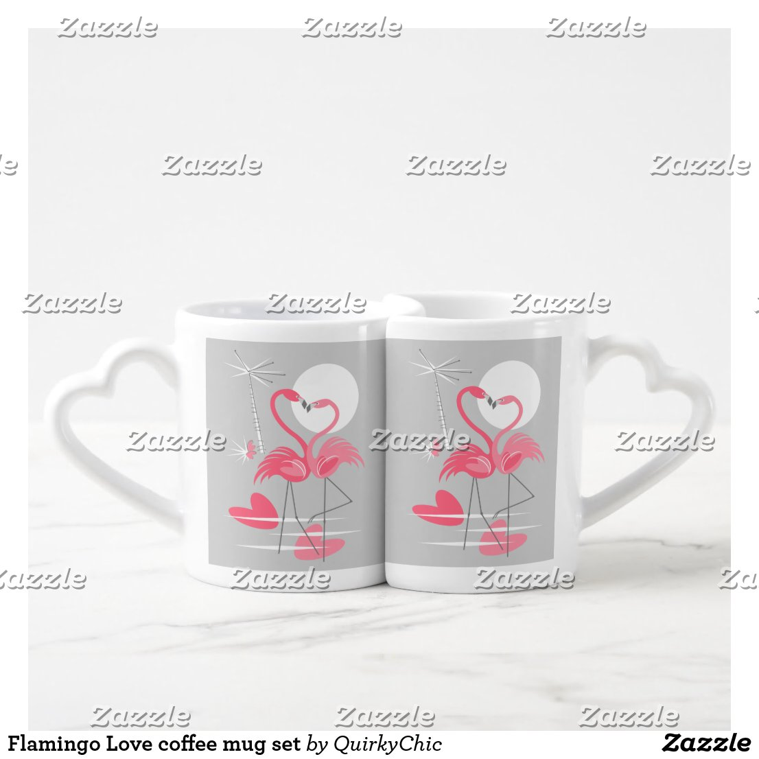 Flamingo Love coffee mug set