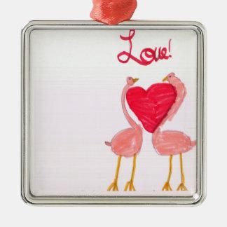 Flamingo Love Ornament
