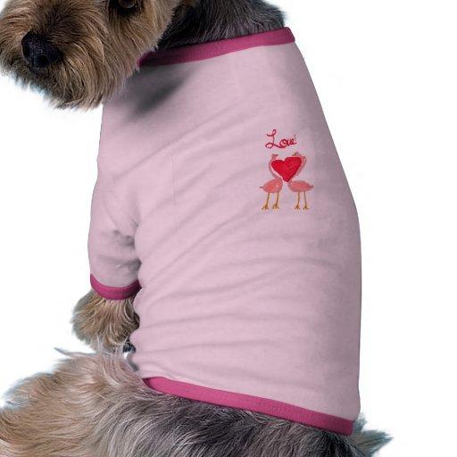Flamingo Love Doggie T Shirt