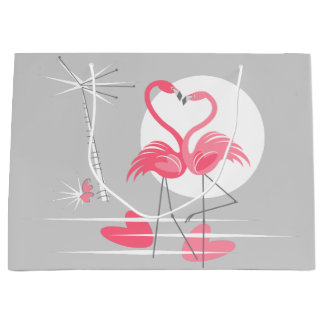 Flamingo Love gift bag large