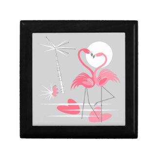 Flamingo Love gift box black