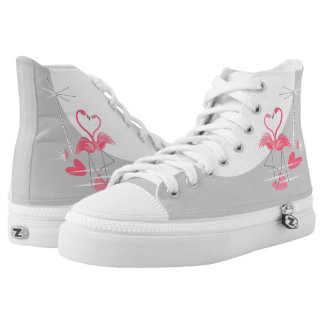 Flamingo Love Large Moon high top shoes