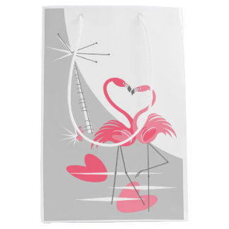 Flamingo Love Large Moon medium Medium Gift Bag