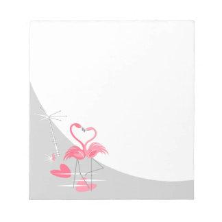 Flamingo Love Large Moon notepad