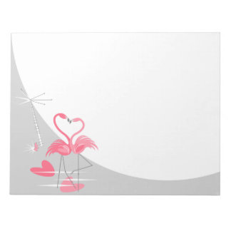 Flamingo Love Large Moon notepad horizontal