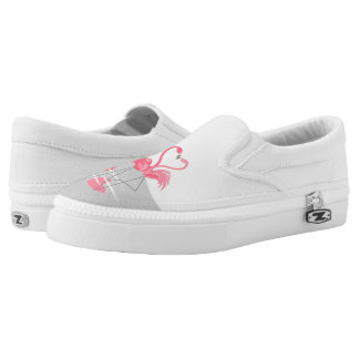 Flamingo Love Large Moon slip on shoes