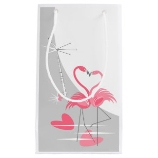 Flamingo Love Large Moon small Small Gift Bag