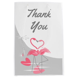 Flamingo Love Large Moon Thank You medium Medium Gift Bag