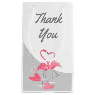 Flamingo Love Large Moon Thank You small Small Gift Bag