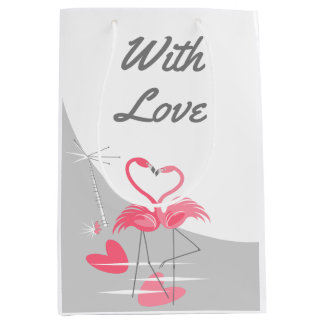 Flamingo Love Large Moon With Love medium Medium Gift Bag