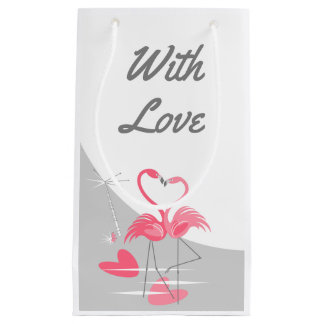 Flamingo Love Large Moon With Love small Small Gift Bag