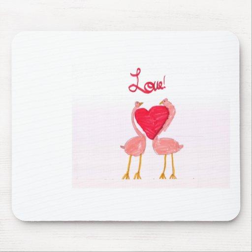 Flamingo Love Mouse Pad