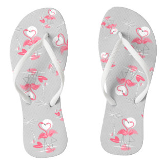 Flamingo Love Multi flip flops