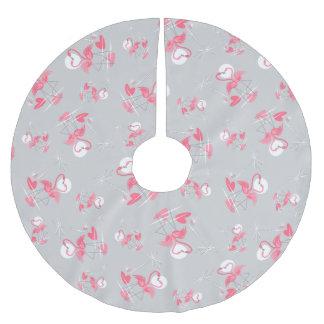 Flamingo Love Multi tree skirt