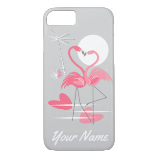 Flamingo Love Name iPhone 7 case