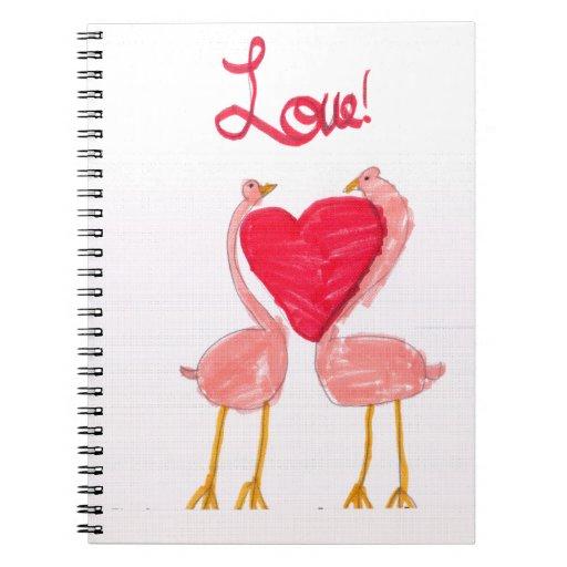 Flamingo Love Spiral Notebooks
