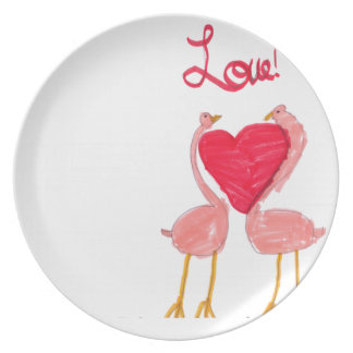 Flamingo Love Party Plates