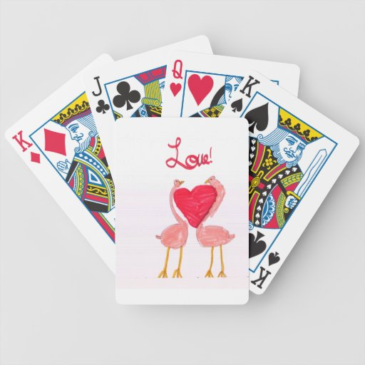 Flamingo Love Playing Cards
