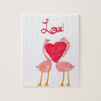 Flamingo Love Jigsaw Puzzles