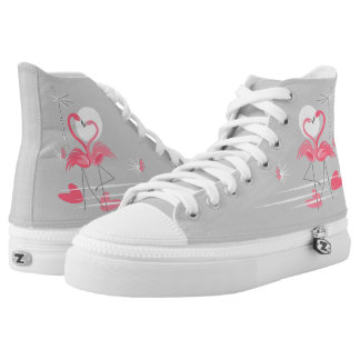 Flamingo Love Side high top shoes