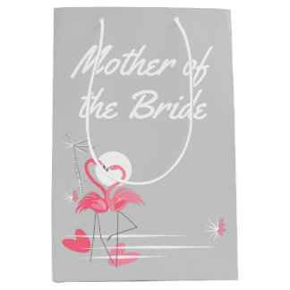 Flamingo Love Side Mother of the Bride medium Medium Gift Bag