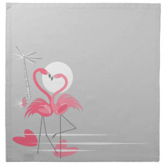 Flamingo Love Side napkin cloth