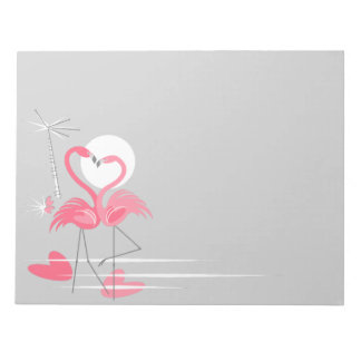 Flamingo Love Side notepad horizontal
